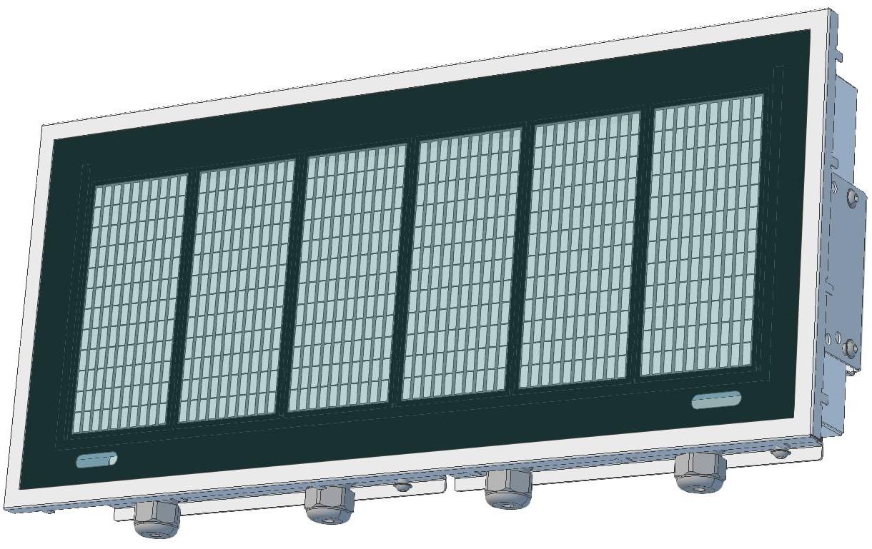 ND7060 6 digit 150mm alphanumeric